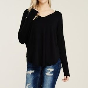 NWT Black Swing Top Relaxed Fit Stretchy Comfy SML